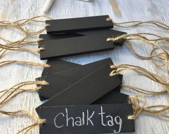 Chalkboard Tag- Basket Label- Chalkboard Label- Basket Chalk Label- Horizontal Hanging Chalkboard- Home Organization- Home Decor.