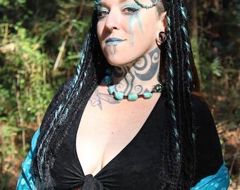 Turquoise Goddess Headdress