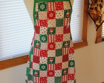 Holiday Patchwork Apron