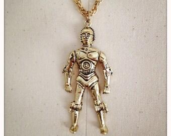 C-3PO - AUTHENTIC NOS Vintage 70s Star Wars Necklace