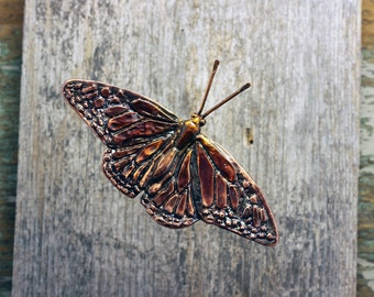 Monarch Butterfly copper wall sculpture