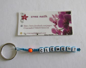 Keyring personalised name choices 1 strand