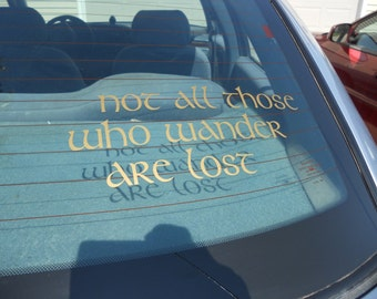 Lord of the Rings Inspired Decal
