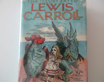 70s vintage book - The illustrated Lewis Carroll - Through the Looking Glass, Alice in Wonderland, Hunting of the Snark