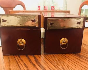 Vintage GLOBE-WERNICKE Organizer File Box
