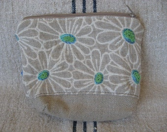 Small Fun Flowered Linen hand Embroidered Bag