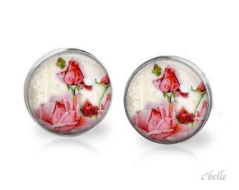Ear studs of pastellener cherry blossom 9