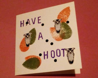 Have A Hoot Owls Card