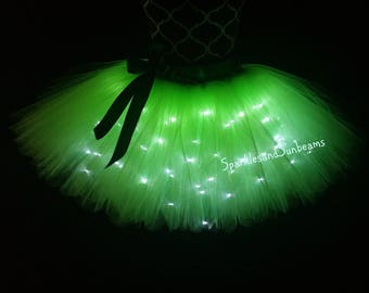 Green LED tutu** Christmas Orders Available **/ Children to adult Tutu costumes/ Light up tulle skirts (33 colors available)