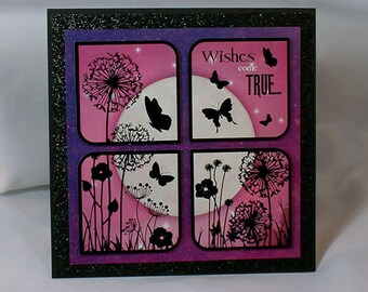 Twilight Kingdom Wishes Come True Greeting Card - Handmade Card - Wishes Come True Card - Twilight Kingdom - Hunkydory - 15-010C