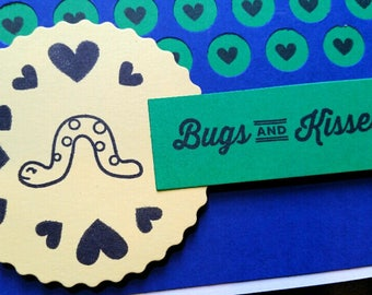 Valentine's Day card - bugs & kisses