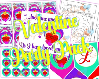 Sacred Heart Valentine Party Pack Printable PDF