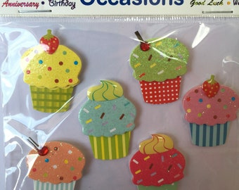 Colourful Cupcake Embellishments