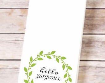 Funny, Flirt, Tea Towel, Kitchen Towel, Flour Sack Towels, Kitchen Decor, Hostess Gift, Kitchen Towels, Dish Towel, Kitchen Towel