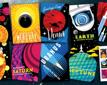 Greetings from the Solar System Postcards & Stickers