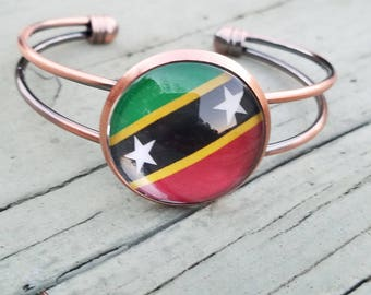 St. Kitts & Nevis Red Copper Bangle
