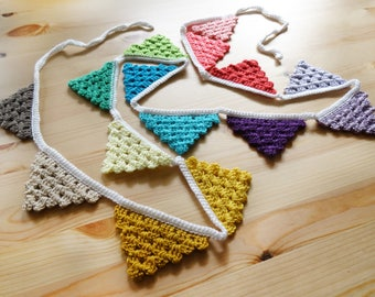 Crochet Pattern - Garland - Flags - Bunting - Pennants - PDF Pattern