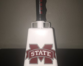 MISSISSIPPI STATE COWBELL Custom, Personalized, msu, Football, Hail State