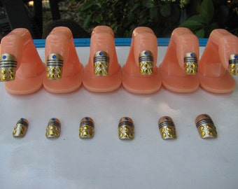 3D Doctor Who Dalek Acrylic Nail Art