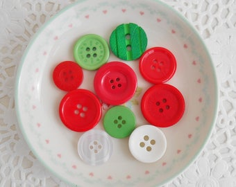 Christmas Buttons (pack of 10)