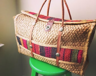 Vintage southwestern style market bag