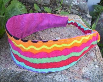 Colorful Corduroy Headband, Ladies Headband, Fabric Headband, Reversible Headband