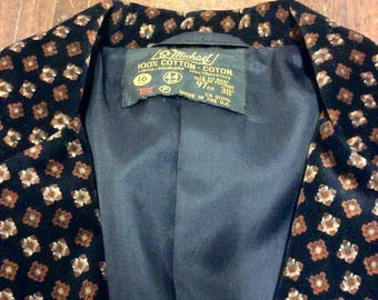 1970s St Michael black velvet blazer UK 12