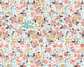 floral crib sheet | floral crib bedding |  baby bedding  | mini crib sheet | pink changing pad cover- hummingbird crib bedding
