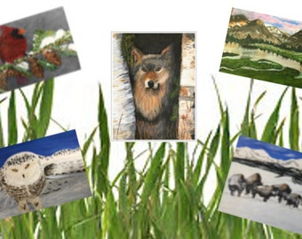Set of 5 Note Cards (5.5 X 4)