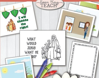 LDS Primary 2 CTR Lesson I Can Choose The Right Helps