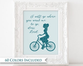 I Will Go - LDS Digital Wall Art Print PRINTABLE Sister Missionary Gift Typography Young Women Relief Society Where You Want Me To Go