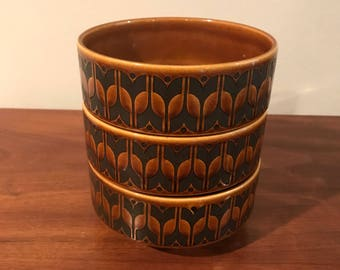 Mid Century Hornsea Bowls Made in England Set of Three