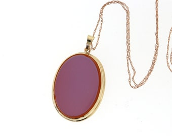 Antique Agate Pendant, Vintage Uncarved Sardonyx Agate Necklace