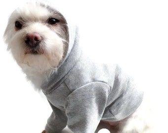 Gray Dog Hoodie-Gray Dog Shirt-Dog Clothes-Dog Hoodies-Dog Sweater-Dog Clothing-Dog Shirt-Dog Shirts-Shirts for Dogs-Sweaters for Dogs