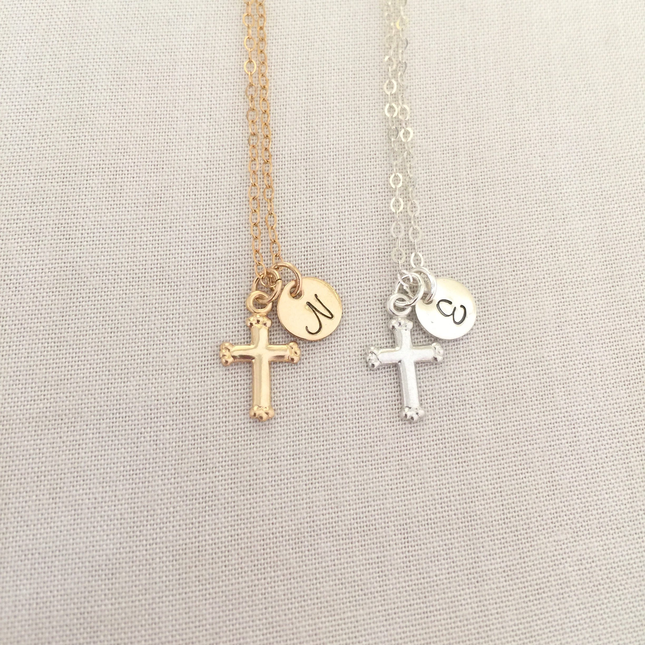listing necklace fullxfull il tiny filled baptism cross gold mary virgin zoom