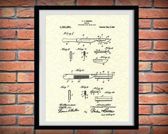 Patent 1916 Scalpel Art Print - Poster Print - Wall Art - Hospital Art - Nurse - Emergency Room - Surgical Art - Surgeon Wall Art