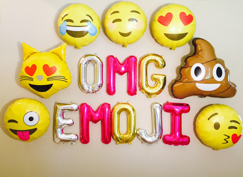 EMOJI Emoji Birthday Banner OMG Theme Party