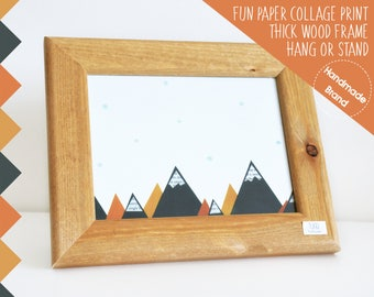 Mountain Print, Framed, Ski Chalet Decor, Chalet Art, Mountain Lodge Art, Alpine Print, Chalet Nursery Wall Art, Chalet Baby Room, Cabin Art