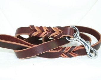 Latigo Leather Leash - 3 foot model