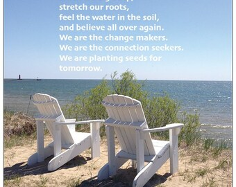 Planting Seeds ~  Poetry Postcard by Author Cristina M. R. Norcross (Postcards from the Eternal Collection)