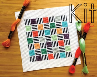 Cross stitch kit, digital dash, counted cross stitch kit
