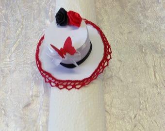 Napkin ring Hat decoration