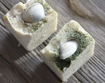 Sea salt and Rosemary Soap Natural Exfoliating Homemade