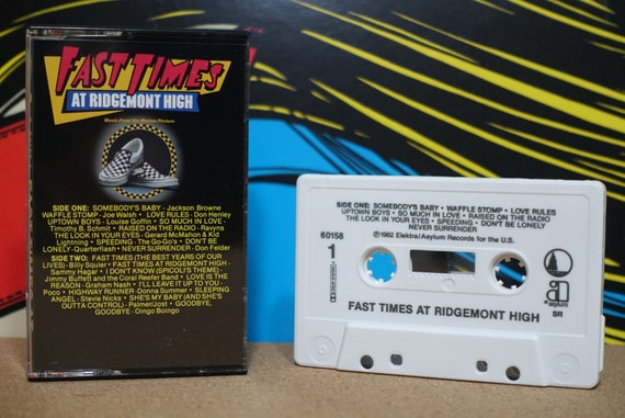 Fast Times At Ridgemont High (Music From The Motion Picture) by Various Artists Vintage Cassette Tape
