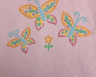 Girls Sparkle Puff Butterfly Tee