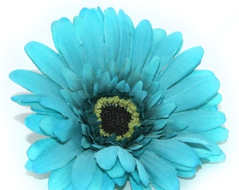 Turquoise Artistry Daisy - Artificial Flowers, Silk Flower Heads - PRE-ORDER