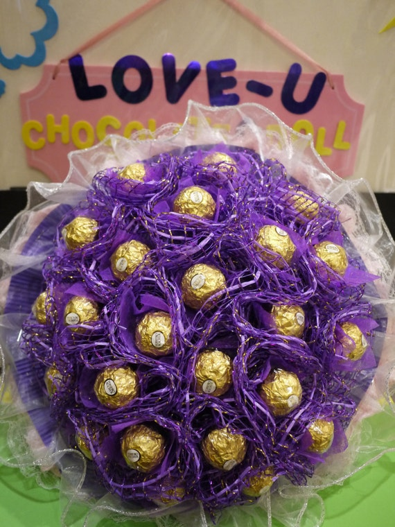 Chocolate birthday gift 24 Ferrero Rocher Chocolate Flower