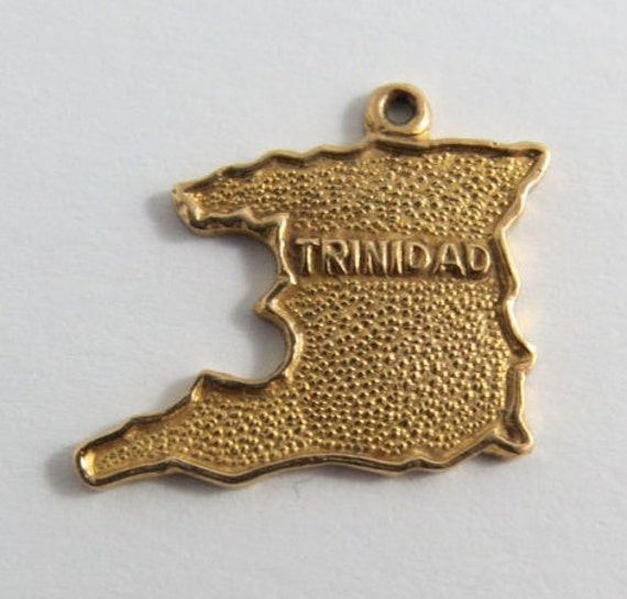 studio on map for charm trinidad gold etsy of silverhillz il bracelet vintage listing from pendant