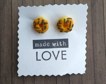 Cutesy Donut Earrings Polymer Clay