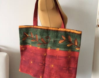 Upcycled Tote Bag Shopping Bag Grocery Zero Waste OOAK (02)